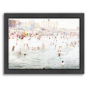 Americanflat Coney Island August Framed Wall Art