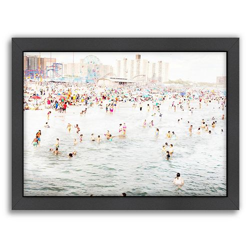 Americanflat Coney Island August Framed Wall Art