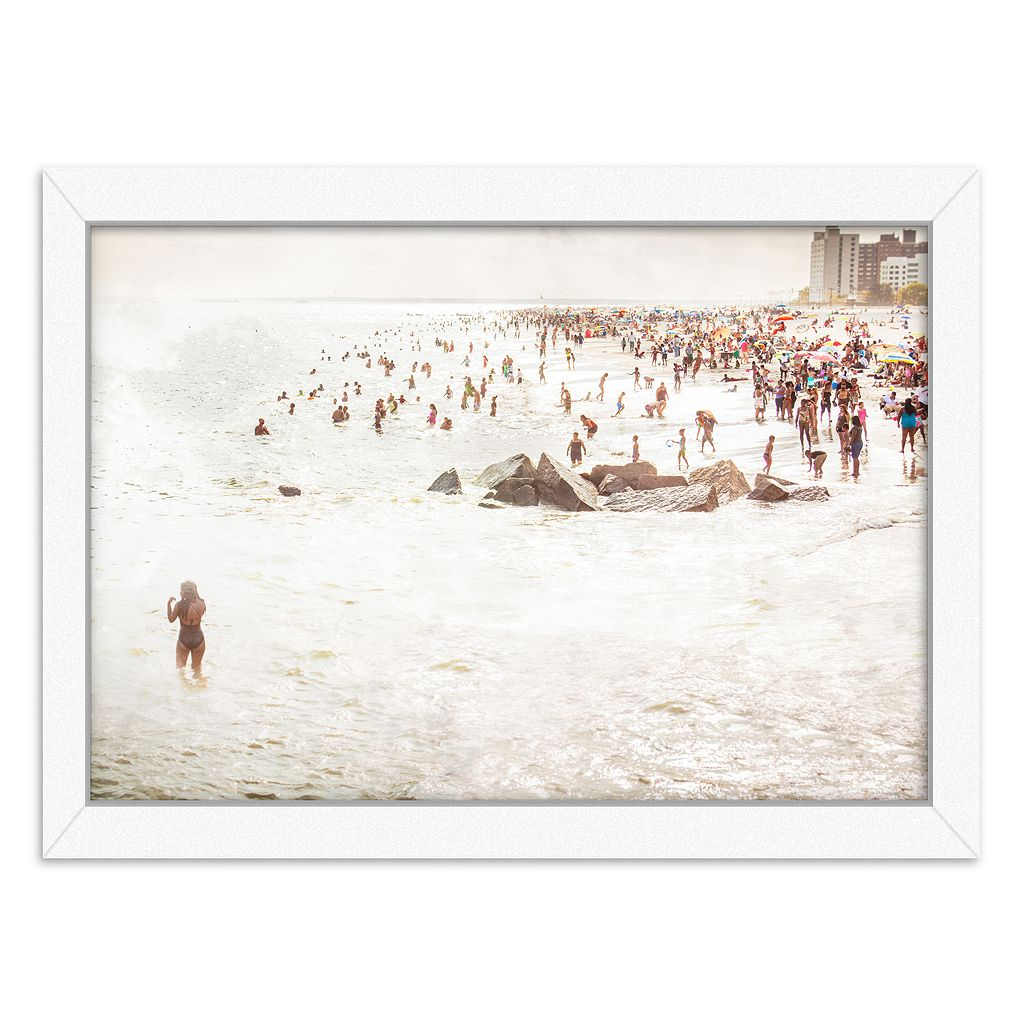 Americanflat Coney Island Mermaid Framed Wall Art