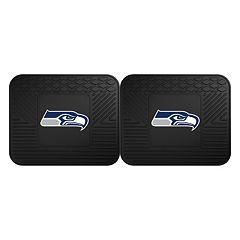 FANMATS Seattle Seahawks 2-Pack Utility Backseat Car Mats