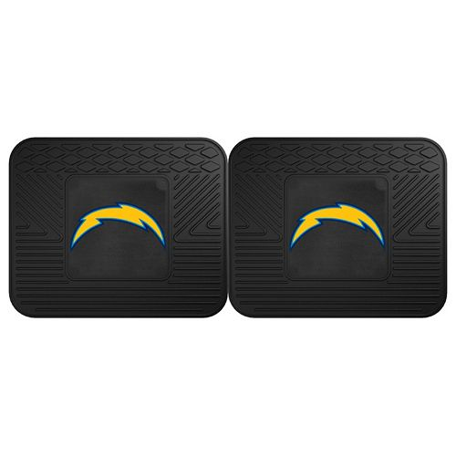 FANMATS San Diego Chargers 2-Pack Utility Backseat Car Mats