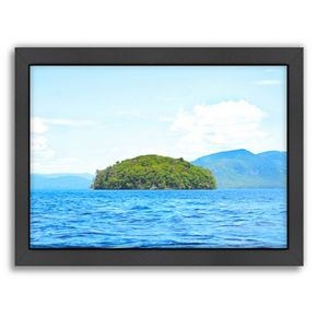 Americanflat Greeting From Nowhere Framed Wall Art