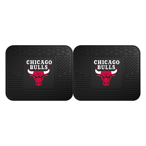 FANMATS Chicago Bulls 2-Pack Utility Backseat Car Mats