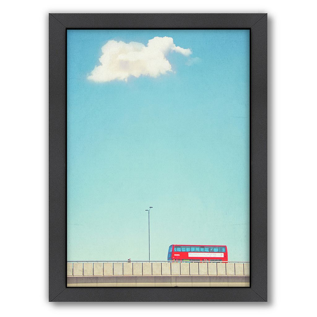 Americanflat Lonely Skies London Framed Wall Art