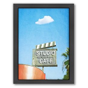 Americanflat Lonely Skies Los Angeles Framed Wall Art