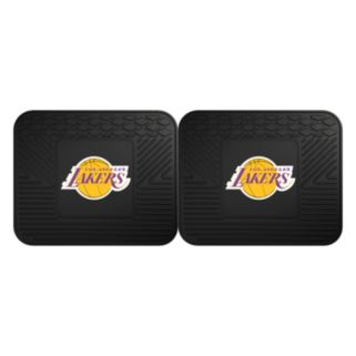FANMATS Los Angeles Lakers 2-Pack Utility Backseat Car Mats