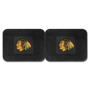 FANMATS Chicago Blackhawks 2-Pack Utility Backseat Car Mats
