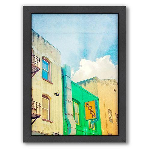 Americanflat San Francisco Tops 1 Framed Wall Art