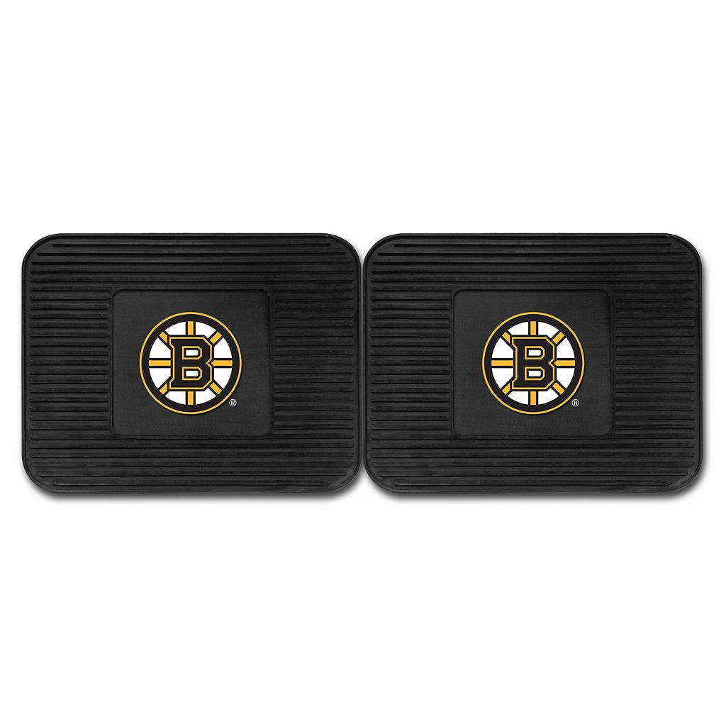 FANMATS Boston Bruins 2-Pack Utility Backseat Car Mats