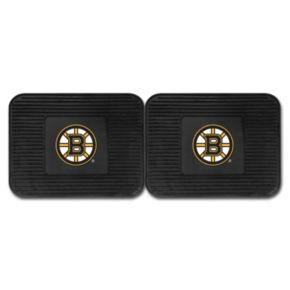 FANMATS Boston Bruins 2-Pack Utility Backseat Car Mats