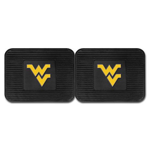 FANMATS West Virginia Mountaineers 2-Pack Utility Backseat Car Mats