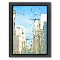 Americanflat San Francisco Tops 4 Framed Wall Art