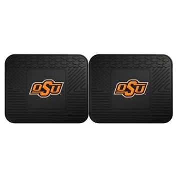 FANMATS Oklahoma State Cowboys 2-Pack Utility Backseat Car Mats