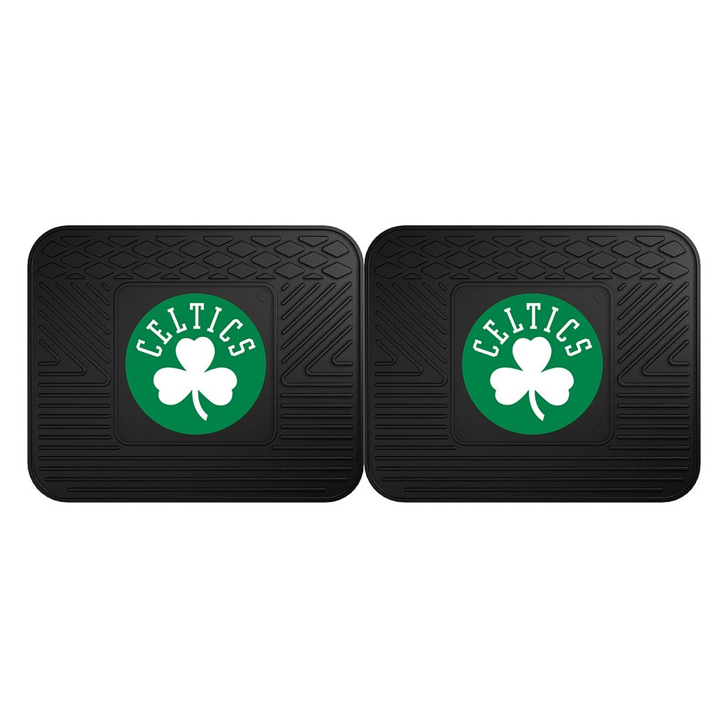 FANMATS Boston Celtics 2-Pack Utility Backseat Car Mats