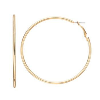 Mudd® Polished Nickel Free Hoop Earrings