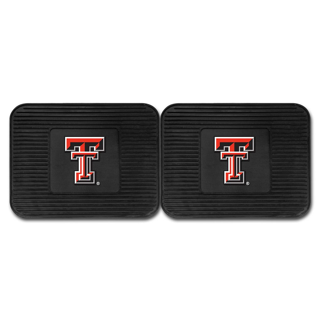 FANMATS Texas Tech Red Raiders 2-Pack Utility Backseat Car Mats