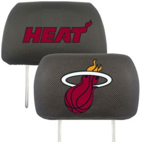 FANMATS Miami Heat 2-pc. Head Rest Covers