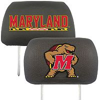 FANMATS Maryland Terrapins 2 pc Head Rest Covers