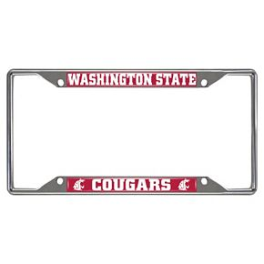 Washington State Cougars License Plate Frame