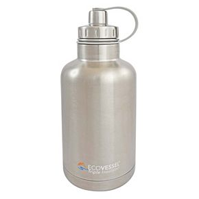 EcoVessel Boss Triple-Insulated Stainless Steel Growler Bottle with Tea & Fruit Infuser