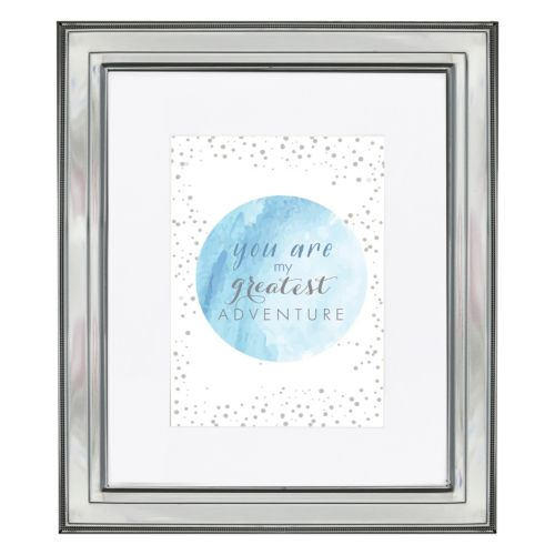 Luxe Collection 5'' x 7'' Matted Shiny Silver Finish Frame