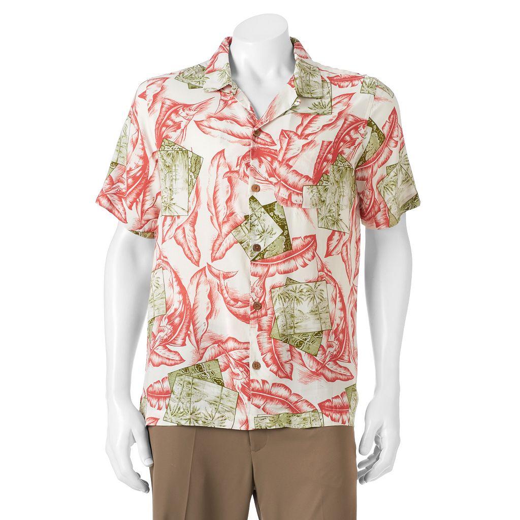 Men's Caribbean Joe Casual Tropical Button-Down Shirt