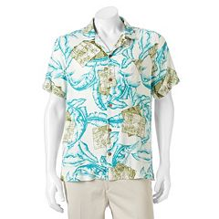 Men's Caribbean Joe Casual Tropical Button-Down Shirt