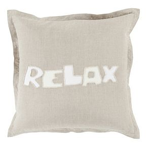 "Decor 140 Chill ""Relax"" Throw Pillow"