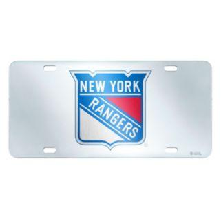 New York Rangers Mirror-Style License Plate