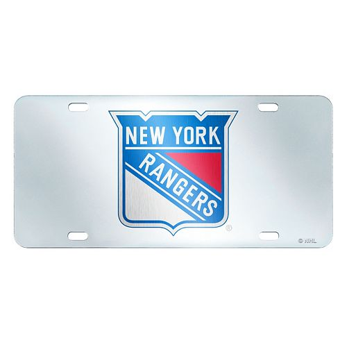 New York Rangers Mirror-Style License Plate