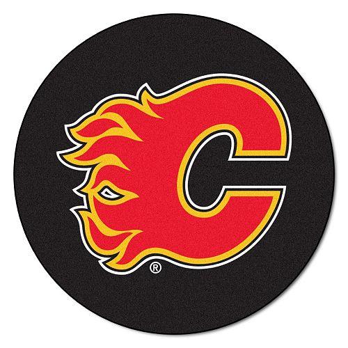 FANMATS Calgary Flames Hockey Puck Rug