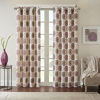 Madison Park Perugia Medallion Linen Blend Window Curtain