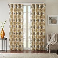 Madison Park Perugia Medallion Linen Blend Curtain