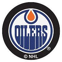 FANMATS Edmonton Oilers Hockey Puck Rug