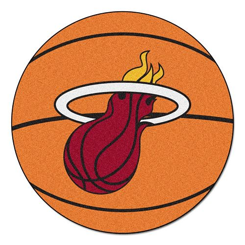 FANMATS Miami Heat Basketball Rug