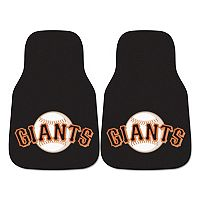FANMATS San Francisco Giants 2-Pack Carpeted Car Mats