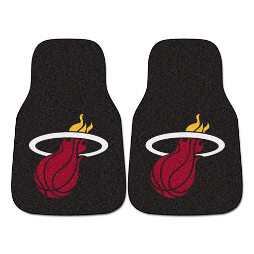 FANMATS Miami Heat 2-Pack Carpeted Car Mats