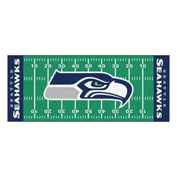FANMATS Seattle Seahawks Football Field Rug
