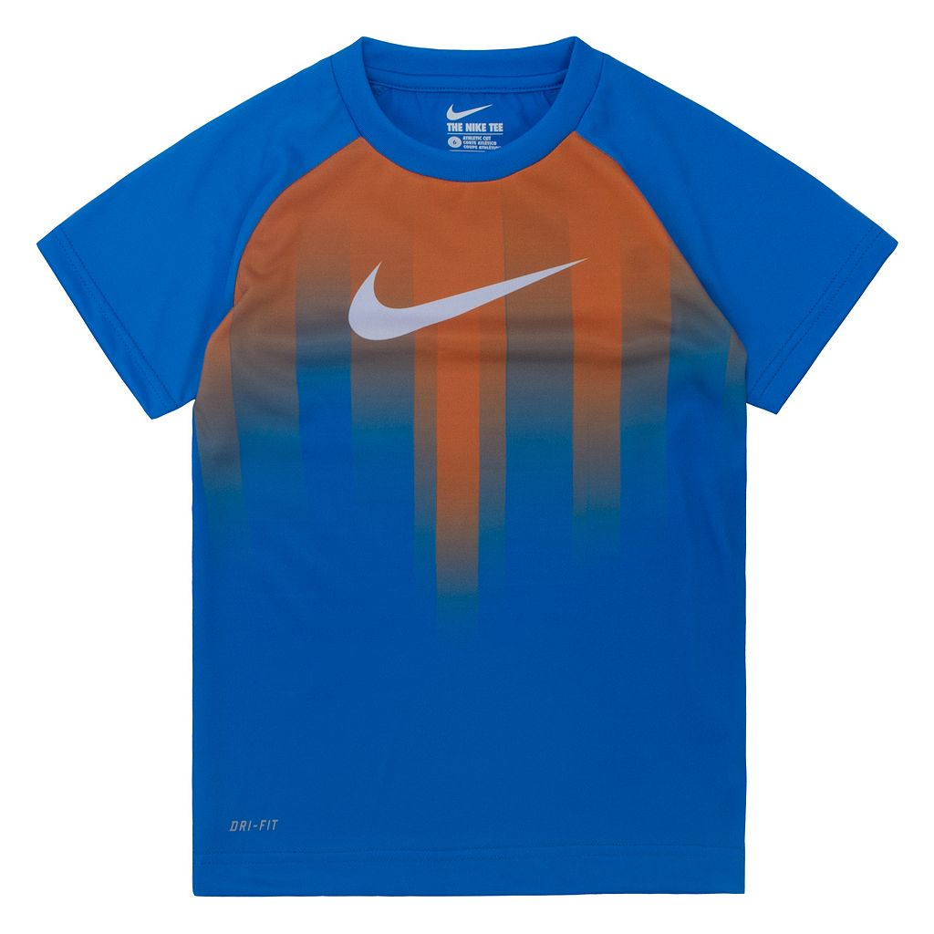 Boys 4-7 Nike Dri-FIT Sublimated Swoosh Raglan Tee
