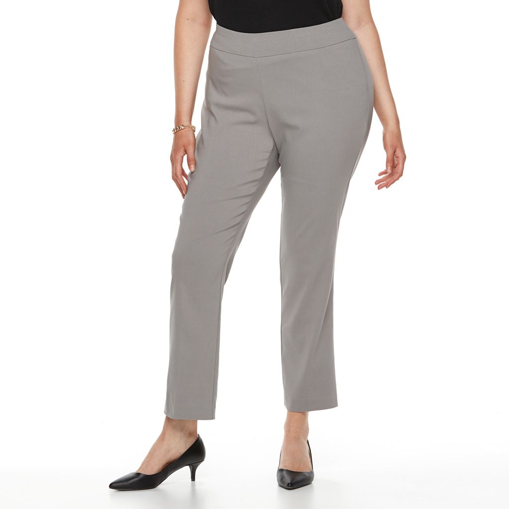 Plus Size Dana Buchman Slimming Pull-On Pants