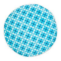 Greendale Home Fashions Quatrefoil Round Throw Pillow