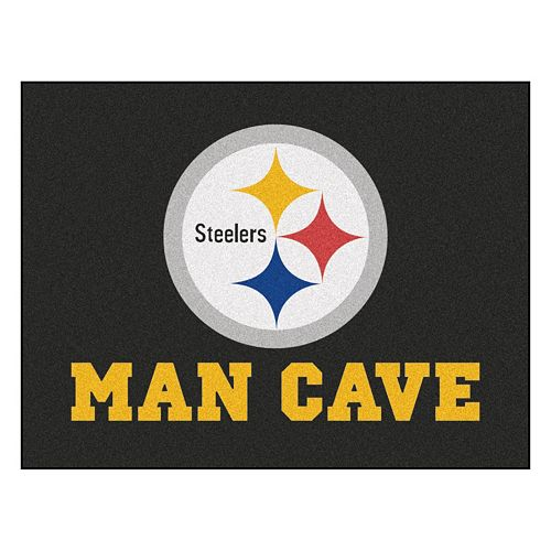 FANMATS Pittsburgh Steelers Man Cave Rug