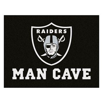 FANMATS Oakland Raiders Man Cave Rug