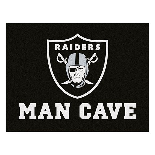 FANMATS Oakland Raiders Man Cave Rug