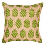 Greendale Home Fashions Pinecone Burlap Throw Pillow