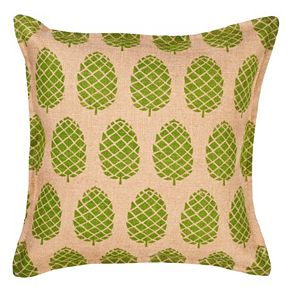 Greendale Home Fashions Pinecone Burlap Throw Pillow
