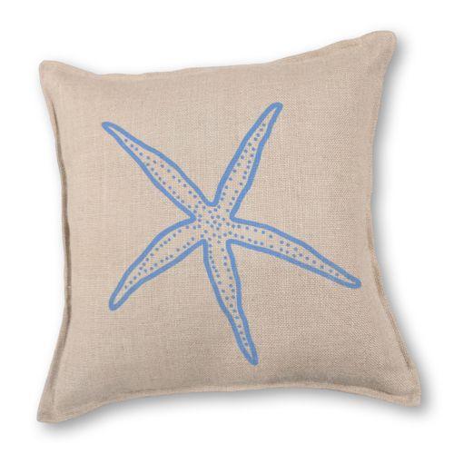 Greendale Home Fashions Starfish Burlap Throw Pillow