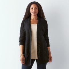 Plus Size SONOMA Goods for Life™ Slubbed Cardigan