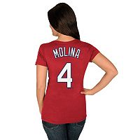 Plus Size Majestic St. Louis Cardinals Yadier Molina Player Name and Number Tee
