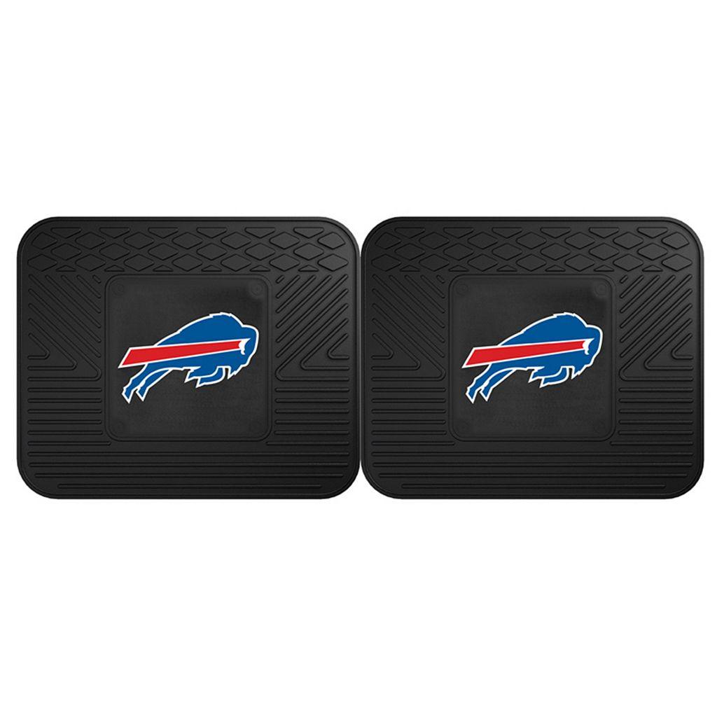 FANMATS Buffalo Bills 2-Pack Utility Backseat Car Mats